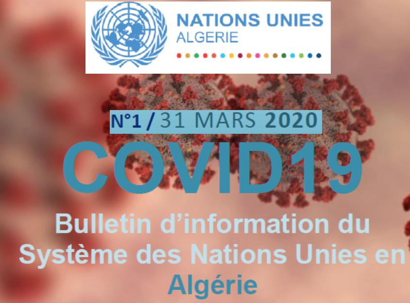 COVID-19-Bulletin d'information du SNU Algérie- n°1