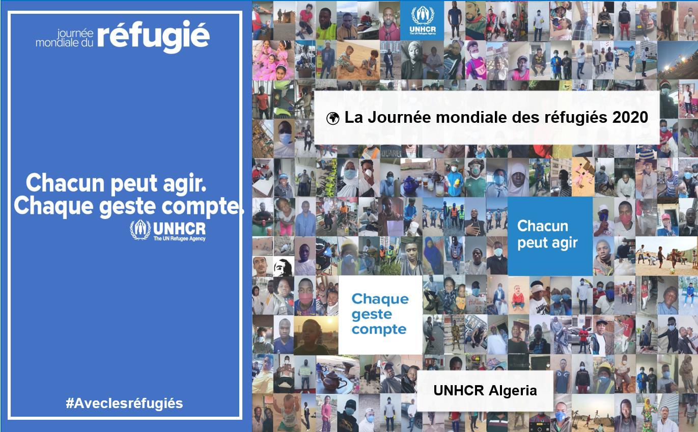 Journée Mondiale des Réfugiés 2020 : une célébration virtuelle en Algérie